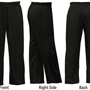 Blended Cotton Black Tai Chi Pants - Adult Unisex