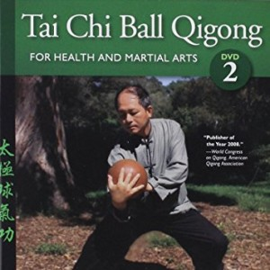 Bundle: Tai Chi Ball deluxe set with wood ball, 2 DVDs and book (YMAA)